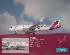 Herpa Wings 1:500 Airbus A320 Eurowings OE-IQD Holydays 531276  Modellairport500