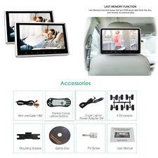 """2pcs 10.1"""" TFT LCD Lecteur DVD moniteur de voiture Siège Arrière Appuie-tête cigare usb"""