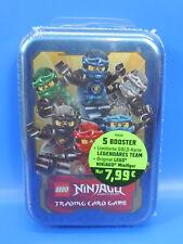 Bleu Océan LEGO NINJAGO Série 2 / BOITE METAL / FIGURINE+doré+cartes à échanger