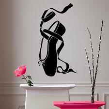 Wall Decals Ballerina Vinyl Sticker Girl Ballet Shoe Dance Pointes Decor kk179