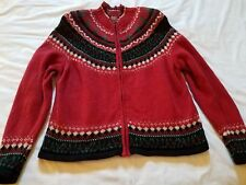 Mountain Lake Ladies' Size PETITE MEDIUM Zip Up Ski Sweater