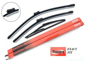 EXACT FIT Aero Front & Rear Windscreen Wiper Blades Fit Volvo V50 2007 to 2015
