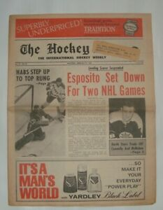 THE HOCKEY NEWS February 22 1969 Vol.22 # 20 Phil Esposito Suspended,Orr out