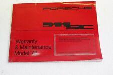 Porsche 911 3,0 Sc Scheckheft sans Numéro de Châssis ! Anglais