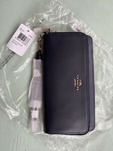 Elegant Coach Wallet BNWT On Trend Inkey Midnight Blue Unwanted Gift