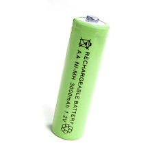 1 x AA 2A 3000mAh 1.2V Ni-MH rechargeable battery Solar Light MP3 Toy Green