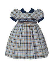 Pretty Originals Girls Smocked Dress & Headband BD01850 AGE 2.3.4.NAVY CHECK