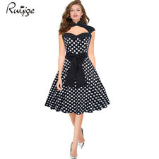 RUIYIGE 50er Jahre Pin Up Vintage Rockabilly Kleid Tanzkleid / Petticoat Rock