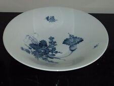 """ROYAL COPENHAGEN DENMARK 45/3480 LARGE BLUE FLORAL SERVING BOWL 12"""""""