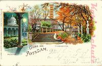 AK Potsdam, Litho, Friedenskirche, Mausoleum, 1899, 18/09