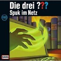 """DIE DREI ??? """"FOLGE 132 SPUK IM NETZ"""" CD HÖRSPIEL NEW"""
