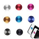 2X Aluminium Metal Round Home Button Sticker For iPhone 4 4S 5s 5c 5 ipad Mini C
