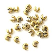 144 pcs Crimp Bead cover Antique Gold 5mm-Jewelry Findings Supplies