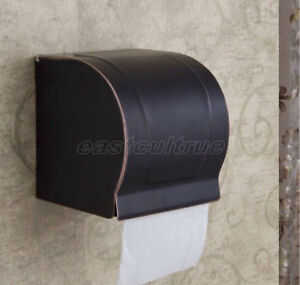 Black Oil Rubbed Bronze Wall Mounted Toilet Paper Holder Roll Tissue Box eba302