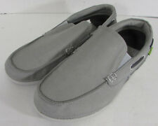$59.99 Crocs Mens Beach Line Slip On Boat Shoes, Smoke/Pearl White, US 9