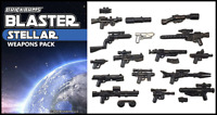 BRICKARMS BLASTER Pack -Stellar- for Lego Star Wars Minifigures -NEW