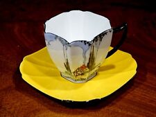 Very Rare Shelley Queen Anne Cottage Art Deco 11604 Cup And Saucer