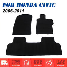 For Honda Civic (2006 to 2011) Sedan Carpet Tailored Car Floor Mats Front & Rear