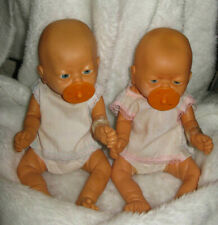 VINTAGE UNBRANDED PREEMIE TWINS BOY AND GIRL BABY DOLLS ANATMICALLY CORRECT