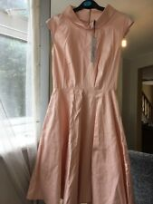 Nude Baby Pink 50s 40s Style Dress Size 8 Closet BNWT Pin Up Retro Vintage