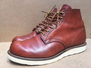 Red Wings 8166 Classic Round Toe Brown Leather Boots USA 8.5 D || UK 7.5