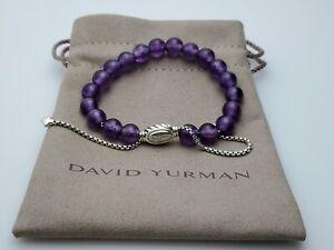 David Yurman Sterling Silver Spiritual Bead Bracelet with Amethyst, 8mm