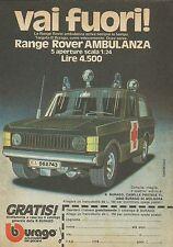 X9207 Range Rover Ambulanza BBURAGO - Pubblicità 1977 - Advertising