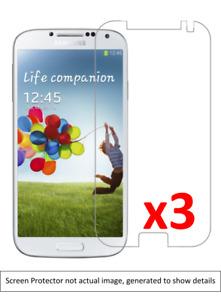 3x Samsung Galaxy S4 Screen Protector w/ cloth