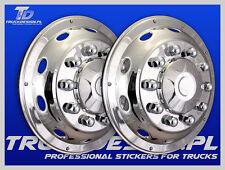 """ONE SET"" Truck wheel trim covers 22,5"" 2x curved DAF Scania VOLVO MAN MERCEDES"