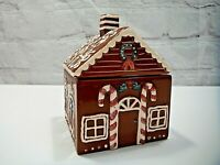 New White Barn Candle Ceramic Christmas Gingerbread House Filled Candle Decor