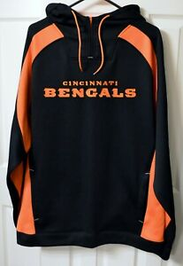 Cincinnati Bengals Reebok Hooded Pullover - Size L - NWOT