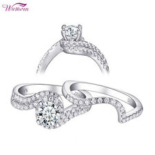 1.2ct Round White Aaa Cz Size 9 Wedding Rings For Women Engagement Ring Set