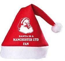Santa is a Manchester Utd Fan Christmas Hat.Secret Santa Gift