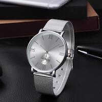 Mode Frauen Kristall Edelstahl analoge Quarz-Armbanduhr Damen Wrist Watch