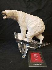 Franklin Mint Porcelain Polar Bear on German Crystal Base Sculpture Lord of Ice
