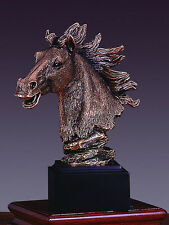 Horse Head 5.5 x 7 Beautiful Bronze Statue / Sculpture Brand New