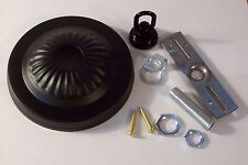 "5"" BLACK FINISH RIBBED CEILING CANOPY KIT FOR LIGHT FIXTURES LAMP PART 54609J"