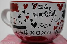 Disney Mickey & Minnie Mouse White w/ I'm Your Girl, Sweet Stuff Jumbo Soup Mug