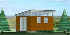 SHED PLANS BLUEPRINTS  12 FT x 16 FT MODERN  w side dr