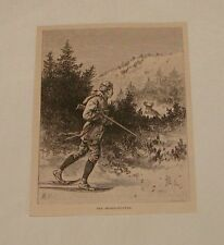 1879 magazine engraving ~ The Moose-Hunter