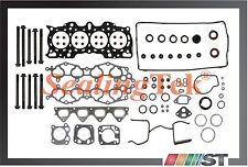 Fit 90-01 Honda Acura B18A1 B18B1 Engine MLS Cylinder Head Gasket Set w/ Bolts
