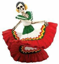 Red Skeleton Dancing Senorita Day of The Dead Dia De Los Muertos Figurine 7813