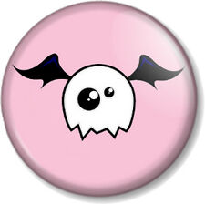 "Cute Monster 25mm 1"" Pin Button Badge Halloween Skull Ghost Bat Pink Emo Novelty"