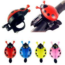 Cute LadyBug Bicycle Bell Ring Cruiser Kids Bike Vintage Handlebar Grips Horn