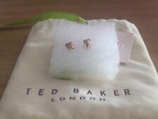 Genuine Ted Baker Rose Gold Cuore Orecchino SIGILLATO Nuovo di zecca in confezione
