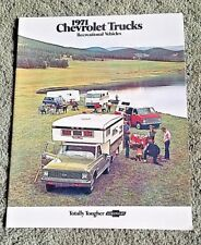 1971 Chevrolet Truck Recreational Blazer Suburban Van El Camino RV Motor Home