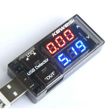 LED USB Charger Current Voltage Charging Detector Tester Volt Meter Ammeter