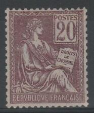 """FRANCE STAMP TIMBRE 113 """" TYPE MOUCHON 20c BRUN-LILAS """" NEUF xx TTB SIGNE  N883"""