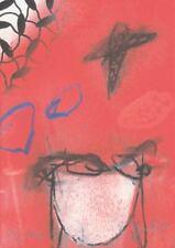 Peter Caspary, informelle Lithografie manuell überarbeitet, signiert