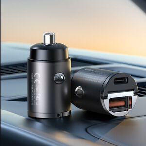 Universal Car Phone Charger USB Type-C Interface 30W PD+QC4.0 Fast Charge Head
